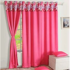 Blackout Curtains Printed Hot Pink-2010
