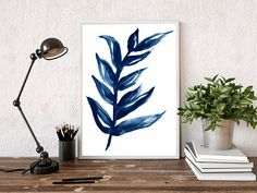 blue botanical  blue leaf print  blue watercolor leaf  leaf art  plant art  Monstera Print Monstera Wall Art  Monstera Leaf Art  botanical print  blue wall art  Giclee art  art prints  wall art Geometric Art, Leaf Art, Blue Wall Art, Wall Art, Watercolor Leaves, Giclee Art, Art, Plant Art, Photo Pape