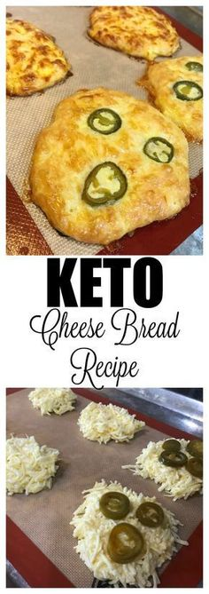 A jalapeno cheese bread recipe that is a keto cheese bread. Only 3 ingredients to make this keto cheesy bread recipe, that is loaded with flavor. Low Carb Bread, Keto Bread, Low Carb Diet, Easy Bread, Bread Baking, Keto Diet Plan, Ketogenic Recipes, Low Carb Recipes, Diet Recipes