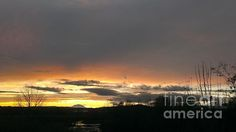 A Distant Mt Adams Sunset by LKB Art and Photography