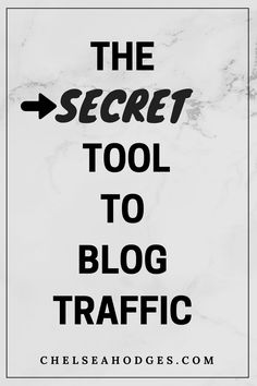 Learn about the secret tool I use to utilize more blog traffic with Pinterest - FOR FREE! www.chelseahodges.com
