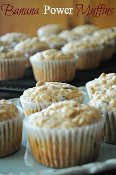 Banana Power Muffins- Perfect for throwing in your backpack for a hike or bike ride!