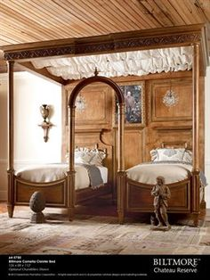 Shop the Bridgeton Twin Canopy Bed at Perigold, home to the design world's best furnishings for every style and space. Home Bedroom, Master Bedroom, Bedroom Decor, Bedroom Ideas, Bedroom Themes, Wall Decor, Twin Canopy Bed, Twin Beds, Bedroom Furniture