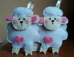 sheep pink heart / owieczki różowe serce