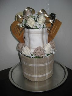 1000 images about towel cakes on pinterest towel cakes for Kitchen gift ideas under 30