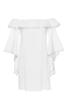 White Rachel Ruffle Dress by ALEXIS for Preorder on Moda Operandi