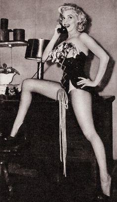 "Marilyn Monroe on set of ""Gentlemen Prefer Blondes"" 1953"