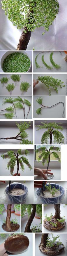 Создаем дерево «Весенняя свежесть» из бисера