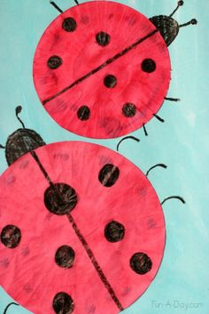 Lots of playful learning with a cupcake liner ladybug craft