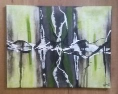When lightning strikes. 50 x 40 cm canvas.