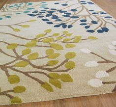 Sanderson Home - Pippin 23808 Teal / Linden Rugs | Modern Rugs