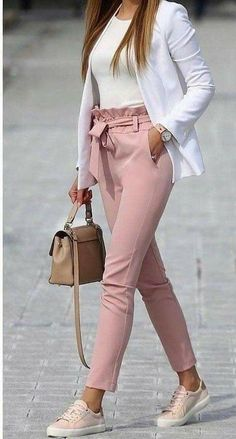 Cute teen girls spring outfits 02 ~ Dresses for Women - Work Outfits Women Casual Friday Outfit, Friday Outfit For Work, Casual Work Outfits, Professional Outfits, Mode Outfits, Work Casual, Stylish Outfits, Fashion Outfits, Semi Casual Outfit Women