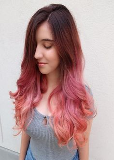 Rosy Peach Amazing Hair Color Ideas 2019 Latest Hair Color, Cool Hair Color, Unique Hairstyles, Messy Hairstyles, Peach Hair, Makeover Tips, Amazing Hair, Mermaid Hair, Hair Highlights