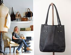I'm on the lookout for the perfect brown leather bag. When I saw these beauties online the other day, designed by Ceri Hoover of Nashville, Tennessee, I had to learn more... From SWEET PEACH blog