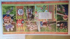 Scrapbook multi-pic layout idea (use long section for title and embellishments)