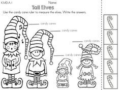 Measurement with informal units >> Part of the Christmas Kindergarten ...