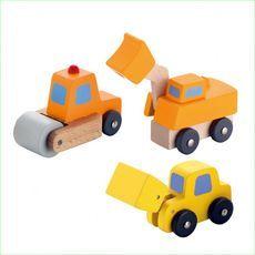 Sevi Miniature Road Construction Set - Green Ant Toys  http://www.greenanttoys.com.au/shop-online/toy-vehicles/miniature-road-construction-set/