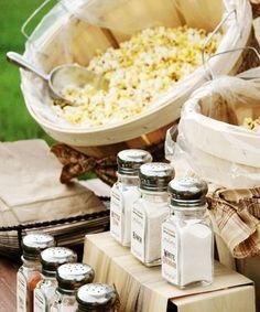 Unique Wedding Ideas: Popcorn Bar