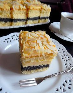 Rewelacyjne Ciasto Makowo-Adwokatowe - Przepis - Słodka Strona - #adwokatowe #ciasto #makowo #MakowoAdwokatowe #przepis #rewelacyjne #strona #Słodka Polish Recipes, Homemade Cakes, Let Them Eat Cake, Yummy Cakes, Cookie Recipes, Delicious Desserts, Cheesecake, Good Food, Food And Drink