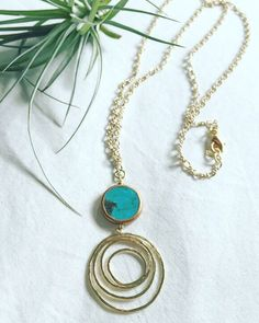 A personal favorite from my Etsy shop https://www.etsy.com/listing/232909613/infinity-turquoise-pendant