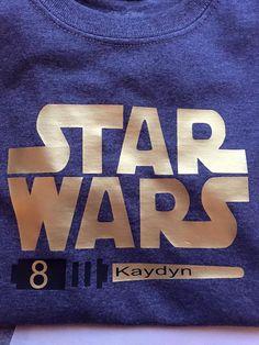 Star Wars birthday shirt by BrownOriginal on Etsy