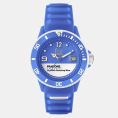 Pantone Unisex watches by Ice-Watch are a fun and colorful collaboration, water resistant and easy to read with a Roman numeral face and calendar dating. They come in vibrant colors from our Fashion, Home + Interiors system like Tile Blue, Lemon Chrome, Sulphur Spring, and Marina.