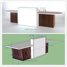 Commercial Office Furniture Front Desk Wood With Lighting … – Modern Corporate Office Design
