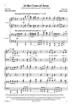 At the Cross of Jesus (SATB ) by John Carter| J.W. Pepper Sheet Music