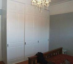 White sliding wardrobe door