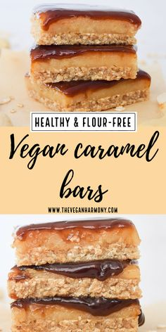 Vegan Treats, Vegan Desserts, Dessert Recipes, Caramel Cheesecake, Cheesecake Bars, Delicious Vegan Recipes, Delicious Desserts, Vegetarian Recipes, Healthy Recipes