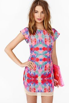 Blurred Bloom Dress - Just LOVE the fun bold print! find more women fashion ideas on www.misspool.com