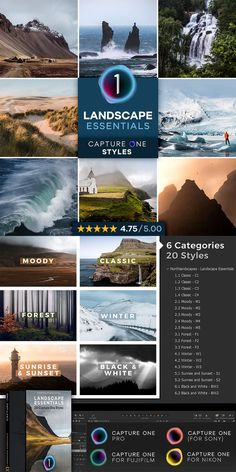 If you're looking for the most universal Capture One Styles for your landscape and nature photography, look no further. Download 20 Capture One Styles, divided into six categories: Moody / Classic / Forest / Winter / Sunrise and Sunset / Black & White Landscape Photography, Nature Photography, Learn Photography, Less Is More, Travel Photos, Sunrise, Black And White, Winter, Classic