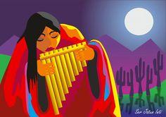 Jatun Inti, Sergio Daniel González Canvas Art For Sale, Art Paintings For Sale, Mexican Paintings, Peruvian Art, Southwest Art, Mexican Folk Art, Native Art, New Art, Cool Art