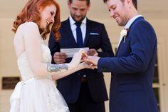 #happy #brideandgroom #ringexchange #porchwedding #ceremony
