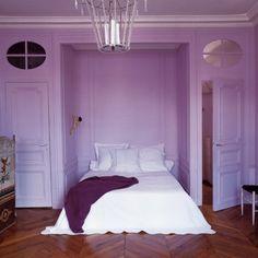 1000 id es sur le th me chambre mauve sur pinterest chambre de roses chambre de damas et - Chambre a coucher moderne mauve et noir ...