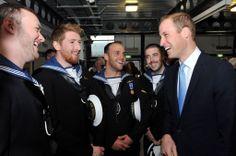 HRH #PrinceWilliam The Duke of Cambridge talking to (left to right) Engineering Technicians (Mechanical Engineering) (Submariner) Hills, Woods, Moss and Powell. #RoyalNavy #submarine #museum #HMSAlliance #submariner #Royalvisit