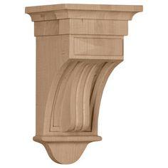 Ekena Millwork 5.5-In X 10-In Rubberwood Raised Fluting Wood Corbel Cor05x05x10rarw