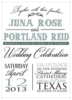 Old Fashioned Wedding Invitation by JulsNewbrough on Etsy