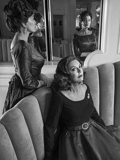 Jessica Lange and Susan Sarandon photographed for Emmy Magazine.
