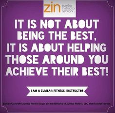Yes!  This is what it means to be a good Zumba instructor.