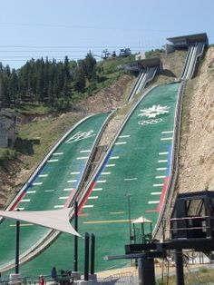 Get a bird's eye view of the Utah Olympic Park by trying out the K120 Nordic Extreme zip line!