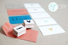 Cute placecard stamps with entree selections #wedding