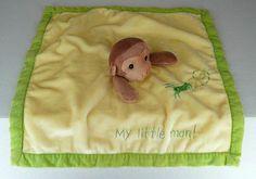 Kelly B. Rightsell Yellow Green Lovely Blanket Monkey My Little Man Grasshopper #KellyBRightsell