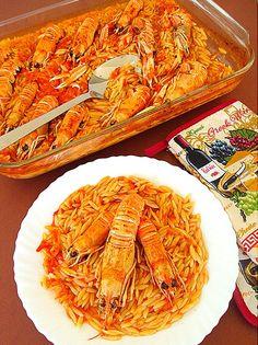 …και κλέψτε τις  εντυπώσεις!!! Υλικά 700 γρ. με 1 κιλό  καραβίδες μισή κούπα λάδι 4 μέτριες ντομάτες στον τρίφτη ή κονκασέ 2  κ.σ. κέτσαπ 1... Greek Recipes, Fish Recipes, Seafood Recipes, Vegetarian Recipes, Snack Recipes, Cooking Recipes, Healthy Recipes, Food N, Food And Drink