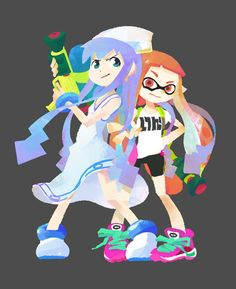 Inklings! The Squid Girl costume will be available with the upcoming update, if you live in Japan that is. Hopefully all Inklings will get it soon!