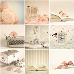 Still Life Photography, Home Decor, Girls Girly, Floral Roses, Shabby Chic, Wedding, Pink, Vintage, Chic, Pink Beige, Nine 5 x 5 Set. $25.00, via Etsy.