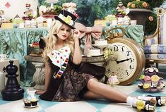 Emily Atack, the gorgeous female Mad Hatter, said that the shoot has inspired her to get baking for Children in Need