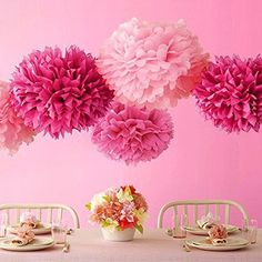 Want to learn how to make DIY tissue paper pom poms? Check out this simple tutorial! DIY pom poms make a great addition to any party or get together.