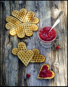 Today is the Swedish #Waffle day! These waffles are commonly eaten with jam, preferably jam from the #cloudberry from northern Sweden, and whipped cream.