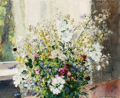 Bouquet with wildflowers   -   Olle Hjortzberg  1951-55  Swedish 1872-1959
